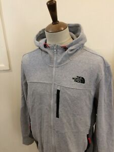 NORTH FACE ZIP UP HOODED SWEAT SHIRT TOP SIZE XL GREY