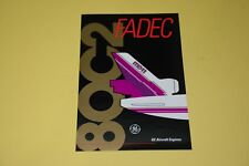 GE Aircraft Engines Sticker, MD11 FADEC CF6-80C2 Engine RARE