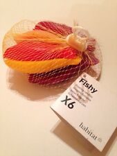 HABITAT Floating Fish Candles in Fishing Net. 'Fishy' New With tags. Colourful