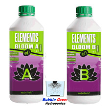 NUTRIFIELD ELEMENTS BLOOM A&B 1L HYDROPONIC FLOWER NUTRIENTS