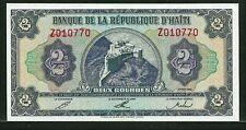 HAITI 2 gourdes 1992 P260 UNC citadel rampart