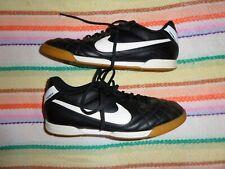Nike Men's Tiempo Mystic Iv Black / White Men's Indoor Soccer Shoes