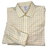 BROOKS BROTHERS Men's Regent Non-Iron Long Sleeve Button Down Shirt 17-34