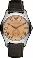 AR1704 Emporio Armani Men's Watch Analogue Quartz Leather Strap-Brown