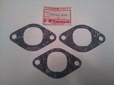 NOS KAWASAKI H2 750 MACH IV H2B H2C - AIR INLET GASKET SET OF 3 16062-016