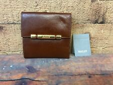 Bally Country Scouzia leather bifold wallet kiss lock, coin purse ID holder