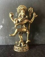 SHIVA NATARAJA INDE statuette laiton amulette Hindouisme Thaïlande Asie s11