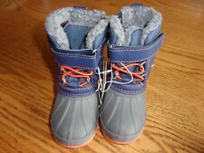 Cat & Jack Boys Blue Bastien Winter Boots Size 4 New With Tags