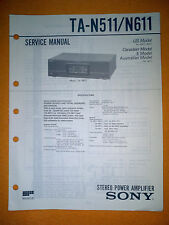 Sony TA-N511/N611 Service Manual (original) Used