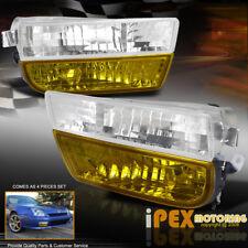 Complete JDM Kit 1997-2001 Honda Prelude Yellow Fog Light+Bumper Signal 4PC Lamp