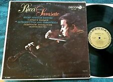 Ruggiero Ricci (Violin) Plays Sarasate LP Decca DL 10044 G+/VG+