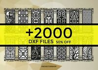 DXF 2000 CNC Vector Art file ready to cut for cnc plasma router laser + catalog