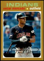 Oscar Mercado 2020 Topps Heritage 5x7 Gold #129 /10 Indians