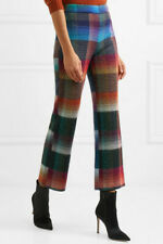 New £1240 Missoni Checked Mohair-blend Straight Leg Runway Trousers
