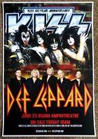 KISS & DEF LEPPARD 2014 Gig POSTER Utah Gene Simmons Concert