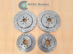 MG TF 160 304mm Front Rear Drilled Grooved Brake Discs