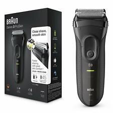 Afeitadora eléctrica inalámbrica recargable máquina afeitar hombre braun 3020s