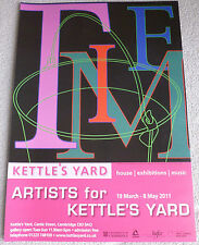 Michael Craig Martin - Tiime    Artists for Kettles Yard   ART EXHIBITION POSTER