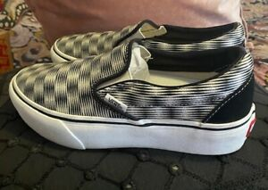 VANS SLIP-ON PLATFORM Ultracush Checkerboard Op shoes Women's 7, Mens 5.5