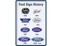 Ford Sign History Blechschild Schild gewölbt Metal Tin Sign 20 x 30 cm