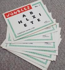 Christian Names - Vintage 1930's Jumbles Party Game - Dennis Publications