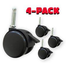 2 Inch Plastic Casters Locking Brakes 516 Diameter Swivel Stem Black 4 Pack