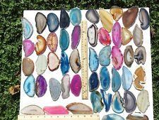 Agate Geode Slice Lot of 10 Quartz Polished Both Sides Slab Lot Large Size #4