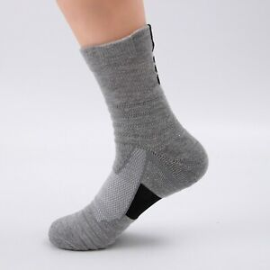 3 6 9 12 Pairs Mens Cotton Cushion Crew Athletic Socks For Sports Hiking Running