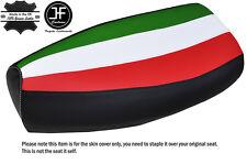 ITALIAN STRIPE WHITE STITCH CUSTOM FITS PIAGGIO VESPA PX 125 LEATHER SEAT COVER