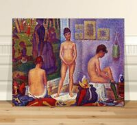 """Georges  Seurat The Models  ~ CANVAS PRINT 36x24"""" ~  Classic Pointalism Art"""
