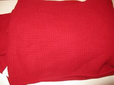 Ralph Lauren Cashmere Pique Throw Blanket RC Red $430