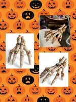 Halloween Haven Jeweled Skeleton Hand Tabletop Decor Faux Jewels Resin Fabulous