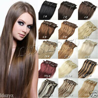 100g 120g 140g 200g Full Head Clip in Hair Extensions 14''-30'' Remy Human Hair