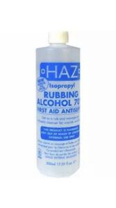 Haz 500ml Isopropyl Rubbing Alcohol 70% First Aid Anti Septic