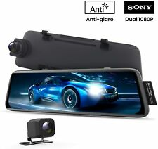 V5 Mirror Dash Cam Front and Rear No Glare 9.35'' Full Touch Screen Backup Night