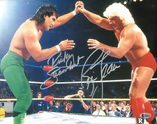 Ric Flair & Ricky Steamboat Signed 11x14 Photo BAS Beckett COA WWE WCW Picture 1