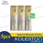 3 x Wella Koleston Perfect Permanent Hair Color Dye 60g Special Blonde