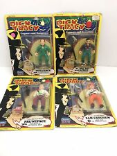 Vtg Playmates Toys Dick Tracy Coppers And Gangsters Action Figures Lot Of 4 New