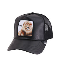 Goorin Bros Mesh Cap Animal Farm King Lion The Best Black Leather Trucker Hat