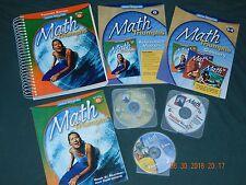 MATH TRIUMPHS Grade 6, teacher/student books, dvds vocab cards, HOMESCHOOL new!