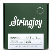 Stringjoy Broadways | Classic Medium Gauge (11-48) Pure Nickel Electric Guitar S