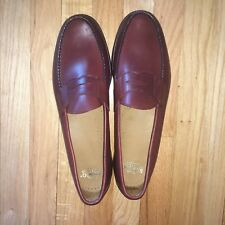 Sebago Mens Size 15 A Penny Loafer Brown Handcrafted Leather Dominican Republic