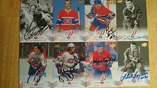 BOBBY ROUSSEAU-2008-09 UD MONTREAL CANADIENS CENTENNIAL SIGNED CARD.
