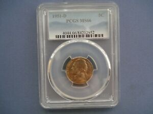 1951 D USA - 5 Cents - Jefferson Nickel 1st portrait- Copper-Nickel - 2952