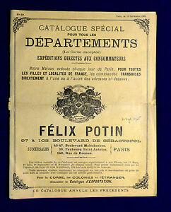 Catalogue spécial Félix Potin n° 69 du 10 septembre 1905