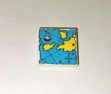 LEGO® Piraten Schatzkarte Landkarte Fliese 2x2