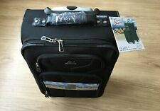 Black 20 small light CARRY ON hand bag 4 wheel spinner SUITCASE skyway soft case