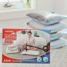 8 Vacuum Storage Bags Space Saver Seal Garment 8pcs Jumbo L M S Travel Hand Pump