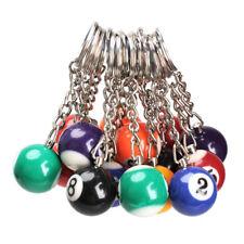 16x Schlüsselanhänger - Billiardkugel Ø ca. 3cm einzeln oder kompl. Set M9