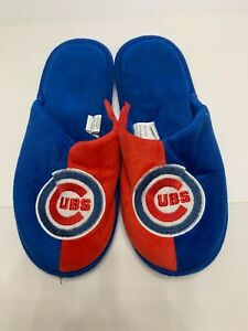 Chicago Cubs Plush Slippers Blue and Red - MLB - Baseball - Chicago